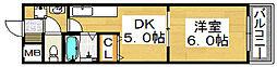 クレール三国ヶ丘[1階]の間取り