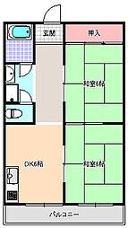 メゾン中野[4階]の間取り