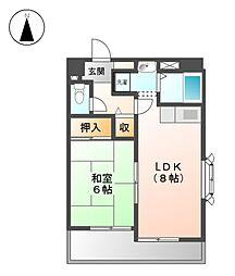 ア−バンステ−ジ田幡[6階]の間取り