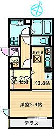 レジデンスYAEZAKI[103号室]の間取り