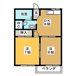 ソレーユミツムロA[2階]の間取り