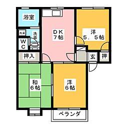 トルースヒルズITM J棟[2階]の間取り