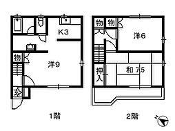 千葉県船橋市高野台の賃貸アパートの間取り