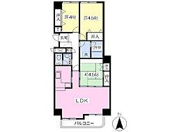 JR予讃線 宇多津駅 徒歩23分の賃貸マンション 3階3LDKの間取り