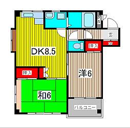 福田ビル[3階]の間取り