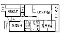 T・フリーデンハイムI[2階]の間取り