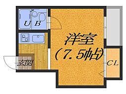大阪府堺市堺区四条通の賃貸マンションの間取り
