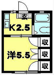 ドミール彦根[1階]の間取り