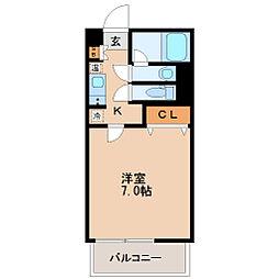 HF北四番丁レジデンス[8階]の間取り