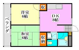 コンフィデンス駿河台[5階]の間取り