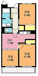 埼玉県北本市大字北本宿の賃貸マンションの間取り