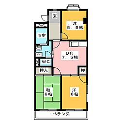 エスポワール横井[2階]の間取り