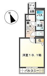 千葉県茂原市高師町2丁目の賃貸アパートの間取り