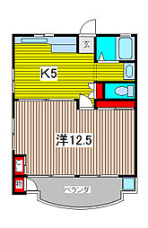 KSKハイツ[2階]の間取り