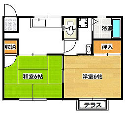 千葉県浦安市今川4の賃貸アパートの間取り