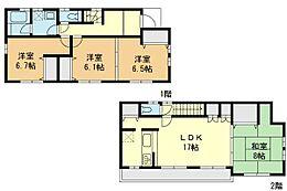 外観:4LDK、土地価格3780万円、土地面積110.00?、建物価格1600万円、建物面積105.37?