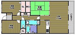 ライオンズマンション大阪狭山壱番館[5階]の間取り