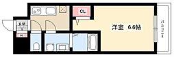 S-RESIDENCE名駅 6階1Kの間取り
