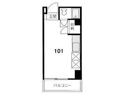 コーポ中村[1階]の間取り