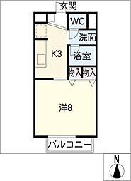 サープラスワン岩田[1階]の間取り