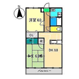 グランドゥールYANO[3階]の間取り
