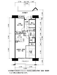 酉島リバーサイドヒルなぎさ街16号棟[6階]の間取り