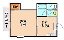 福岡県福岡市城南区友丘3丁目の賃貸マンションの間取り