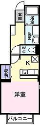 埼玉県春日部市粕壁東4丁目の賃貸アパートの間取り