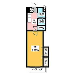 ウィンハイツ勝川[2階]の間取り