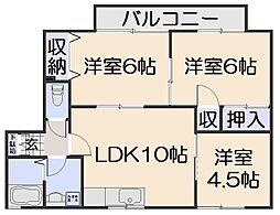 ドルフ・アキ[1階]の間取り