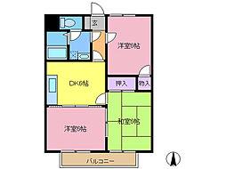 第2グレースマンション[303号室]の間取り