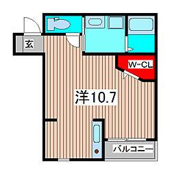 LA VIE CLAIRE[2階]の間取り