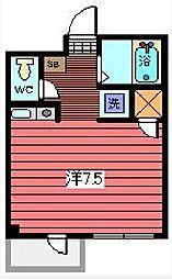 ヴィラ千草I[1階]の間取り