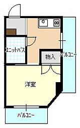 岩藤ビル[4階]の間取り