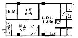 中野プラザ[502号室]の間取り