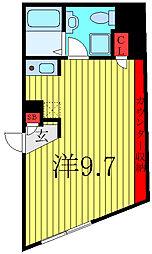 東京メトロ有楽町線 千川駅 徒歩7分の賃貸マンション 1階ワンルームの間取り