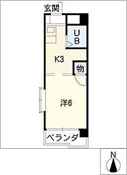 第二宮脇ビル[4階]の間取り