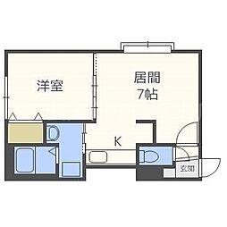 Kazu東札幌[2階]の間取り