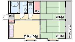 プラムハイツ[3階]の間取り