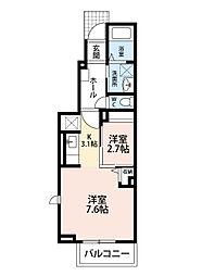 シャトー・熊谷[1階]の間取り