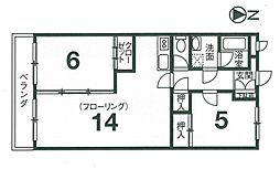 リビングIV[4階]の間取り