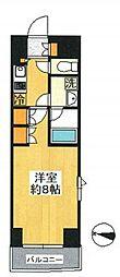 東京都大田区南馬込6丁目の賃貸マンションの間取り