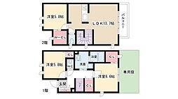 [テラスハウス] 愛知県名古屋市名東区代万町1丁目 の賃貸【/】の間取り