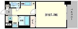アスヴェル阿波座ブルーアース[11階]の間取り