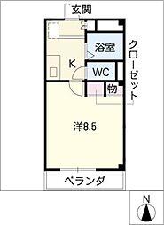 エル・A・M[3階]の間取り