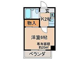 京都府京都市伏見区淀池上町の賃貸マンションの間取り