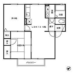 フロンティアS・II[2階]の間取り