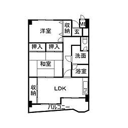 レジデンス福島[9階]の間取り