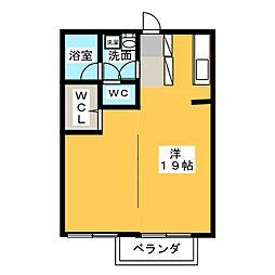 ネオヤマト寺田[2階]の間取り