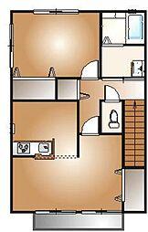 コーポペアレンツB棟[2階]の間取り
